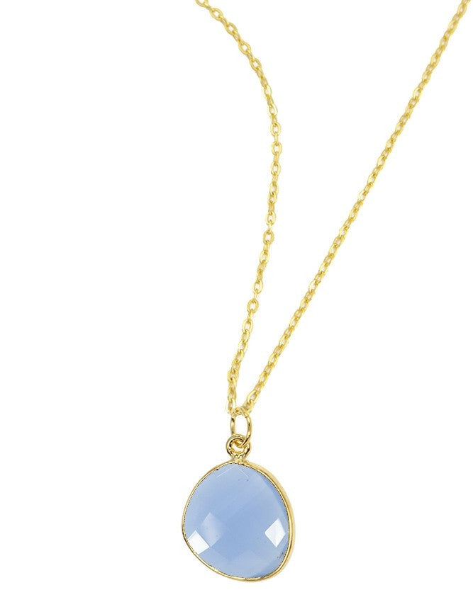 PG38-BL-CH Organic Faceted Gems Pendant Charlene K Jewelry