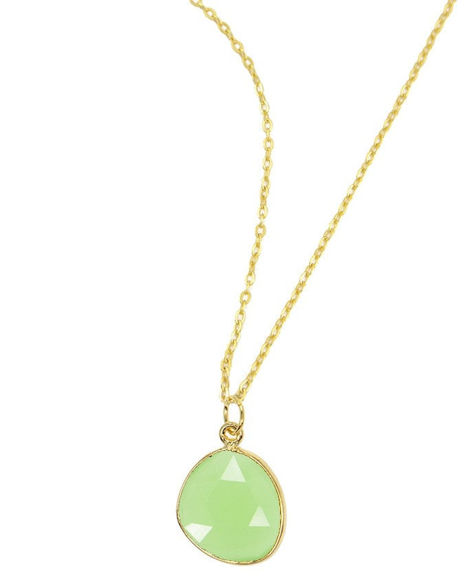 PG38-GR-CH Organic Faceted Gems Pendant Charlene K Jewelry
