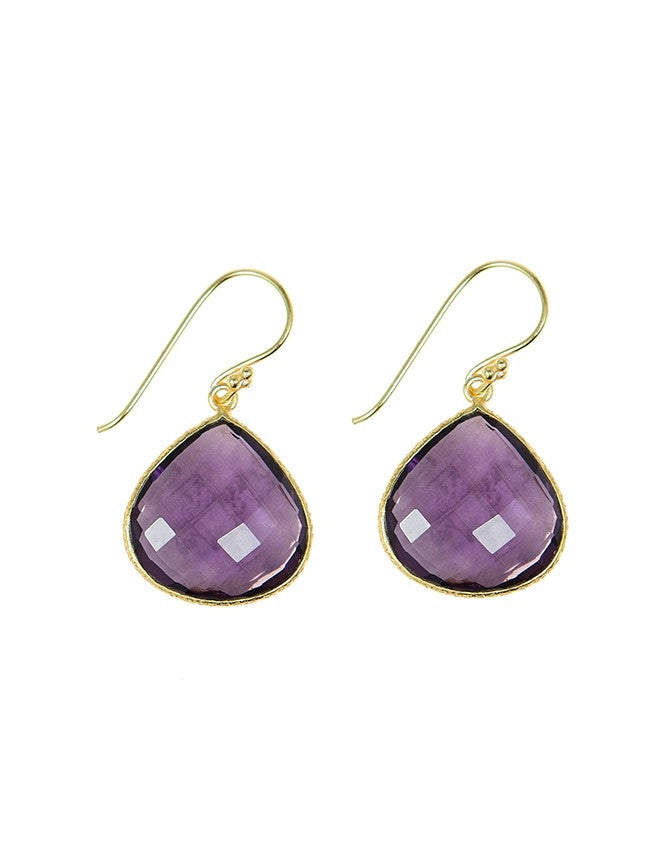 EGT1-AM-QA Faceted Gemstones Earring Charlene K Jewelry