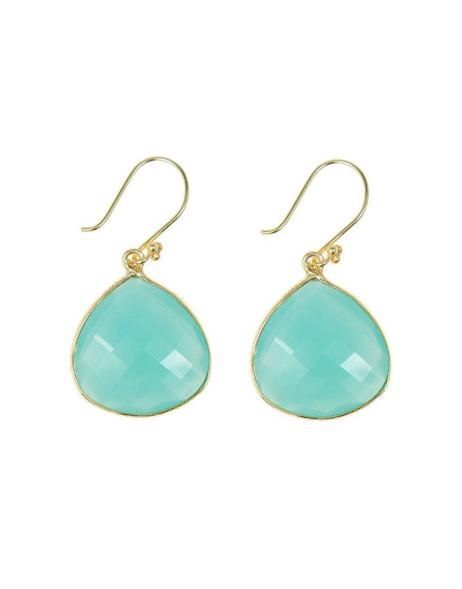 EGT1-AQ-CH Faceted Gemstones Earring Charlene K Jewelry