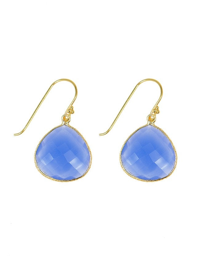 EGT1-BLCH Faceted Gemstones Earring Charlene K Jewelry