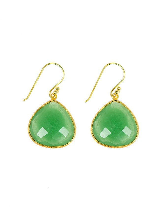 EGT1-GR-CH Faceted Gemstones Earring Charlene K Jewelry