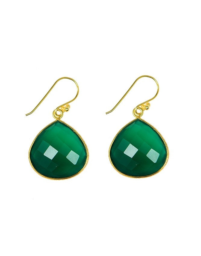 EGT1-GRON Faceted Gemstones Earring Charlene K Jewelry