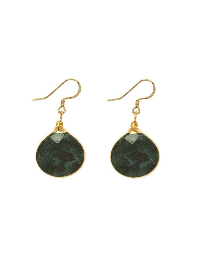 EGT1-LAB Faceted Gemstones Earring Charlene K Jewelry