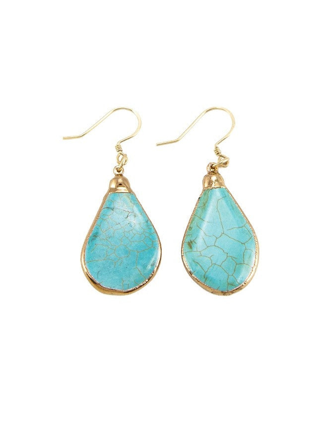 EGT2-TU Faceted Gemstones Earring Charlene K Jewelry