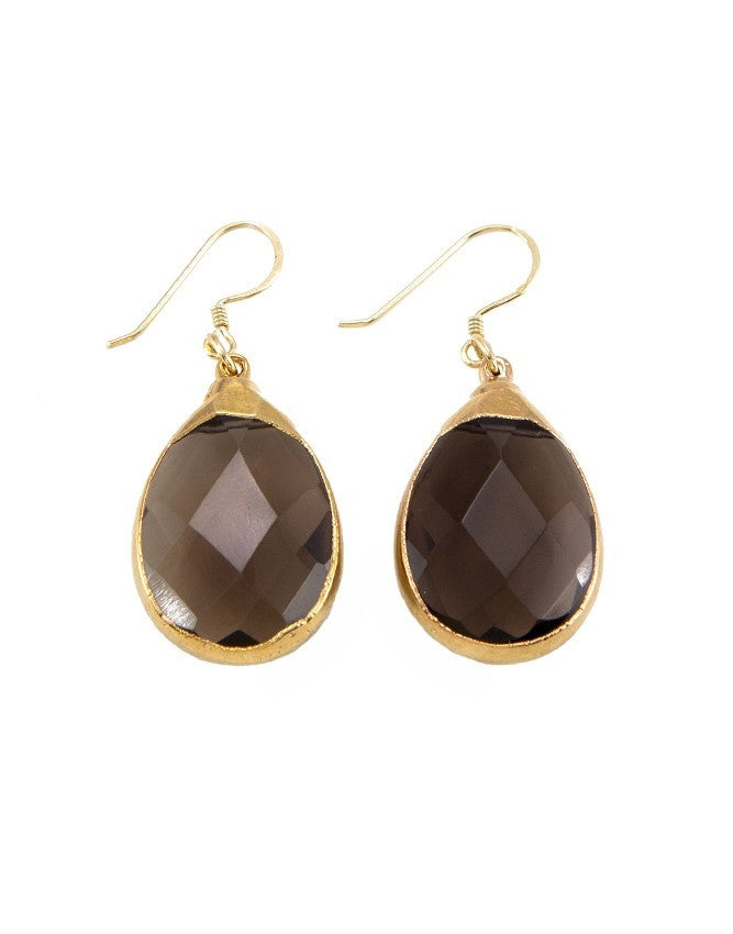 EGT2-SQ Faceted Gemstones Earring Charlene K Jewelry