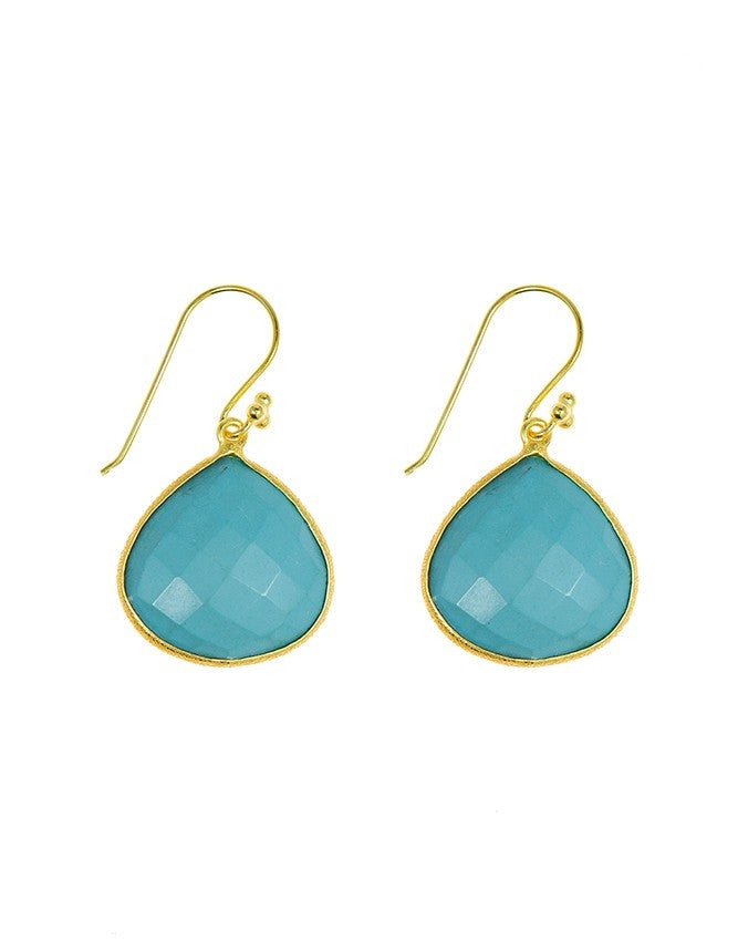 EGT1-TU Faceted Gemstones Earring Charlene K Jewelry