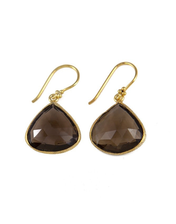 EGT1-SQ Faceted Gemstones Earring Charlene K Jewelry