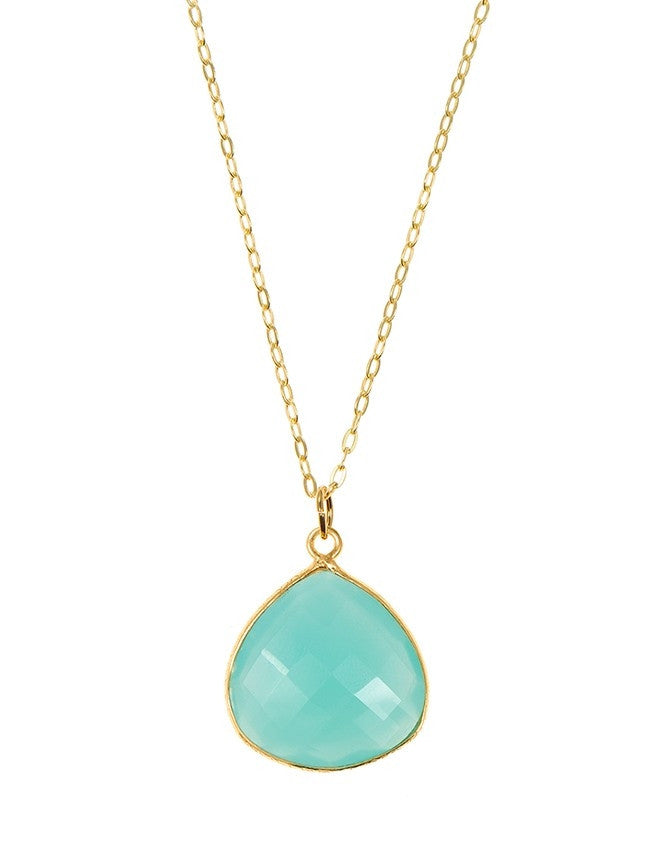 PGT1-AQCH Faceted Gemstones Pendant Charlene K Jewelry