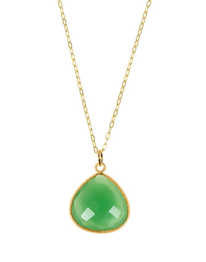 PGT1-GR-CH Faceted Gemstones Pendant Charlene K Jewelry