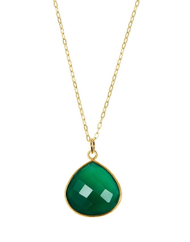 PGT1-GR-ON Faceted Gemstones Pendant Charlene K Jewelry
