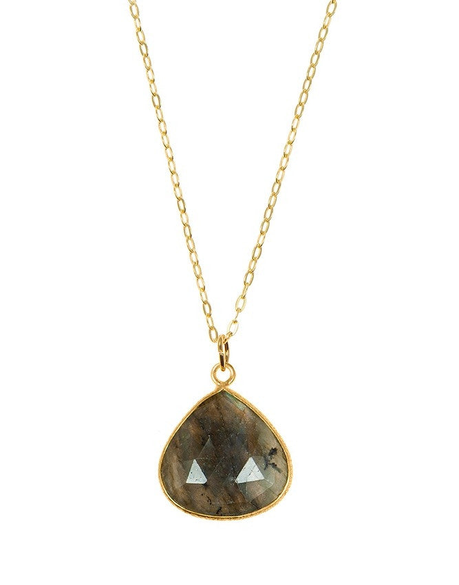 PGT1-LAB Faceted Gemstones Pendant Charlene K Jewelry