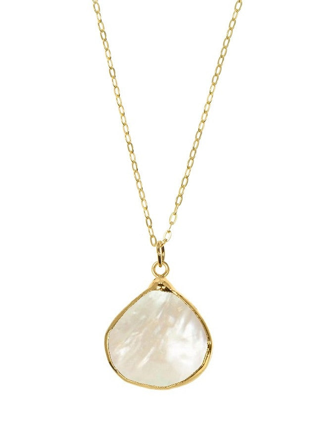 PGT1-MOP Faceted Gemstones Pendant Charlene K Jewelry