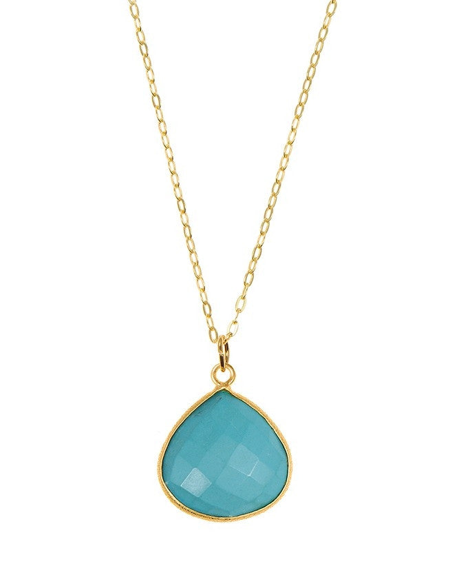 PGT1-TU Faceted Gemstones Pendant Charlene K Jewelry
