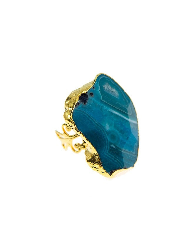 RGAQ-BL Gemstone / Agate Ring Charlene K Jewelry
