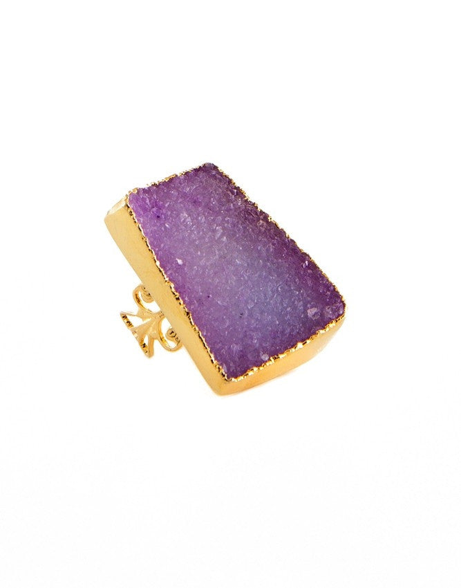 RGD-PK Large Druzy Ring Charlene K Jewelry