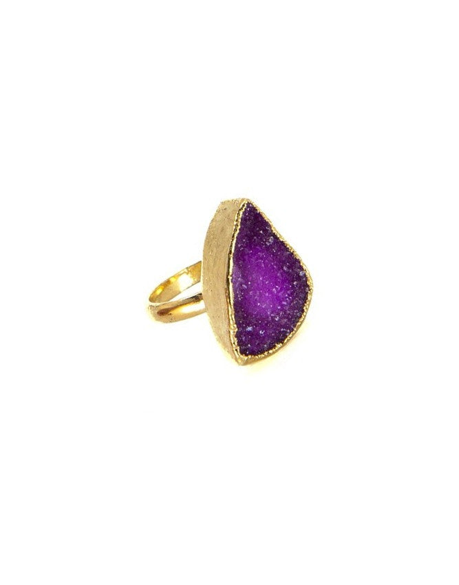 RGD-M-FU Medium Druzy Ring Charlene K Jewelry