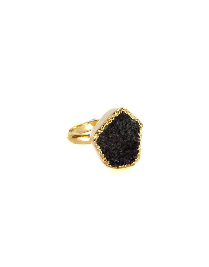 RGD-M-ON Medium Druzy Ring Charlene K Jewelry