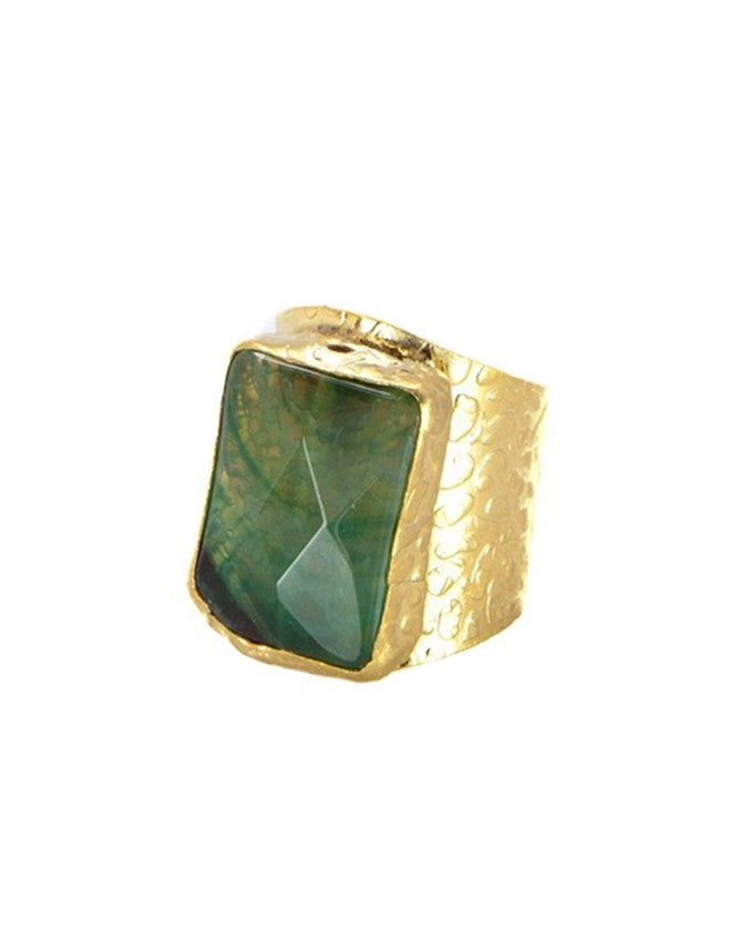 RGCI-S-EM Gemstone Cigar Ring Charlene K Jewelry