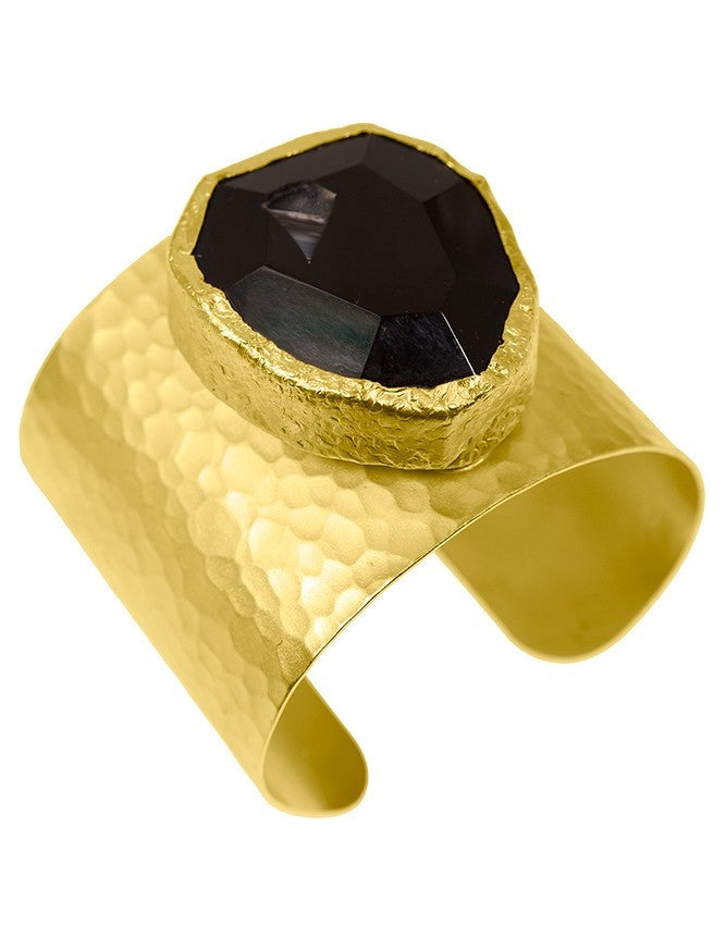 CGAQ-DR-ON 24K Gold Plated cuff Charlene K Jewelry