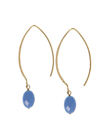 EGOH-RQ Oval - Gem Earrings Charlene K Jewelry