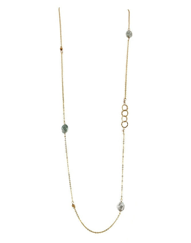 NLG61-AQBL Gem Long Necklace Charlene K Jewelry
