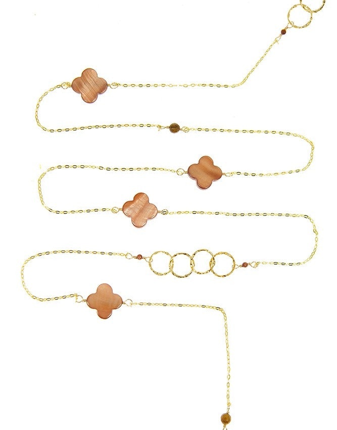 NLG61-CL-BR Gem Long Necklace Charlene K Jewelry