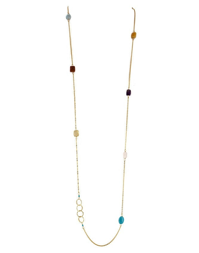 NLG61-MC Gem Long Necklace Charlene K Jewelry