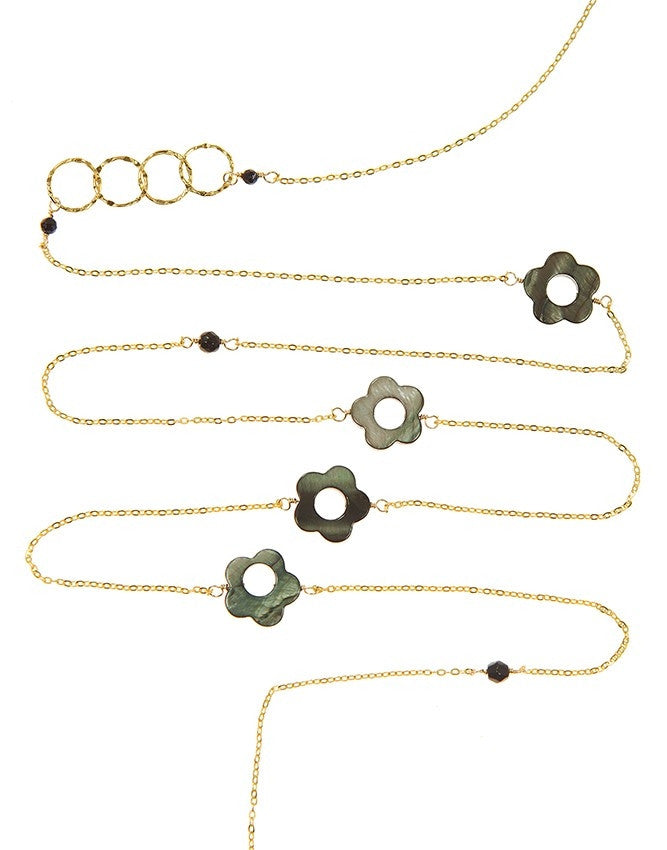 NLG61-SF-GY Gem Long Necklace Charlene K Jewelry