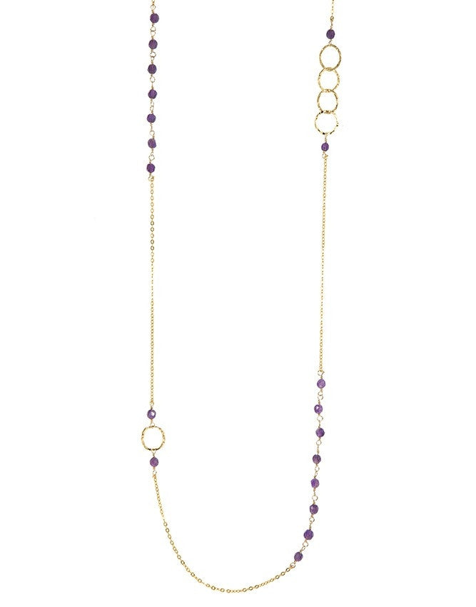 NLG66-AM Mini Beads Long Neck Charlene K Jewelry