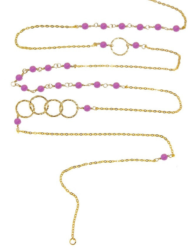 NLG66-FQ Mini Beads Long Neck Charlene K Jewelry