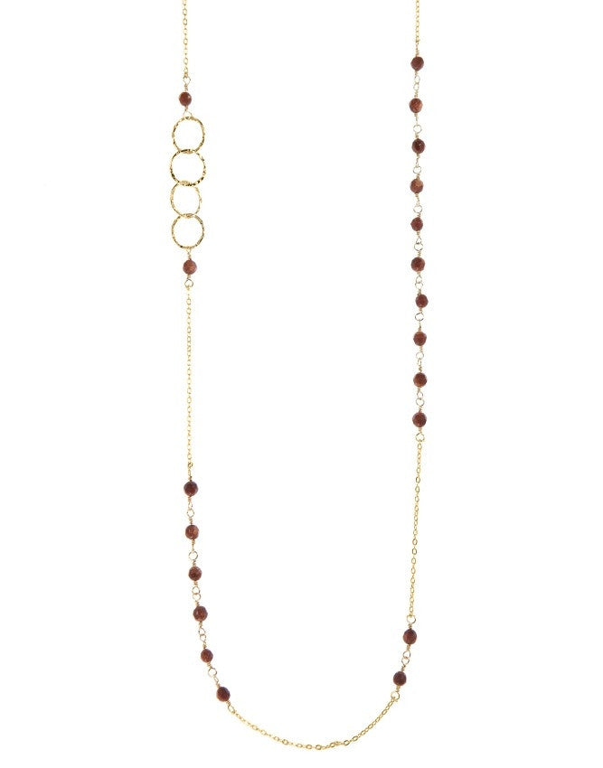 NLG66-GS Mini Beads Long Neck Charlene K Jewelry