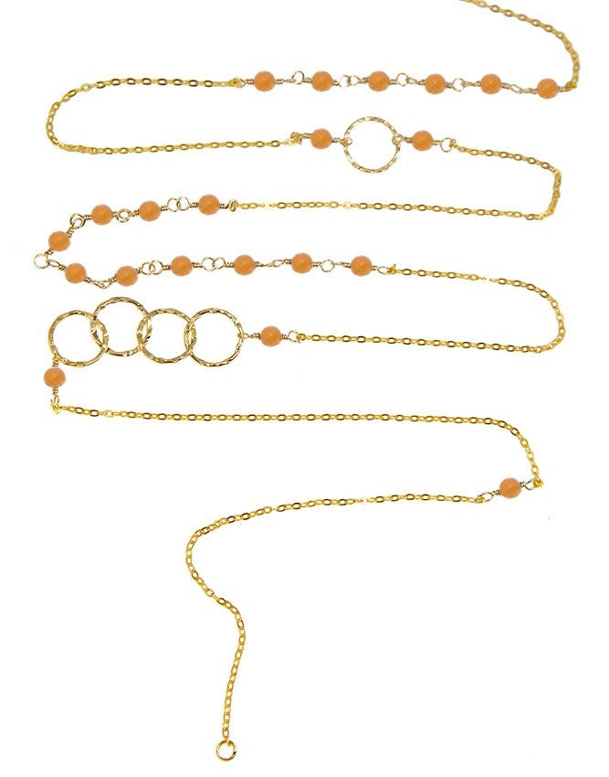 NLG66-PC Mini Beads Long Neck Charlene K Jewelry