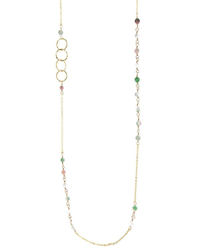 NLG66-RA-WJ Mini Beads Long Neck Charlene K Jewelry