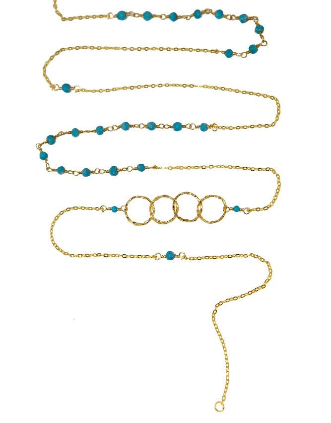 NLG66-TU Mini Beads Long Neck Charlene K Jewelry