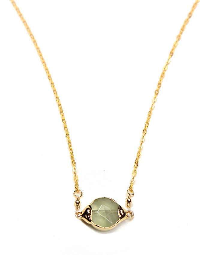 PGQ-GJ Mini Faceted Quartz Pendant Charlene K Jewelry