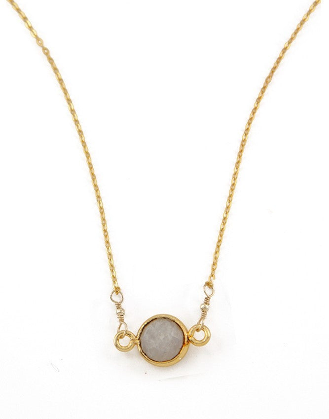 PGQ-MS Mini Faceted Quartz Pendant Charlene K Jewelry