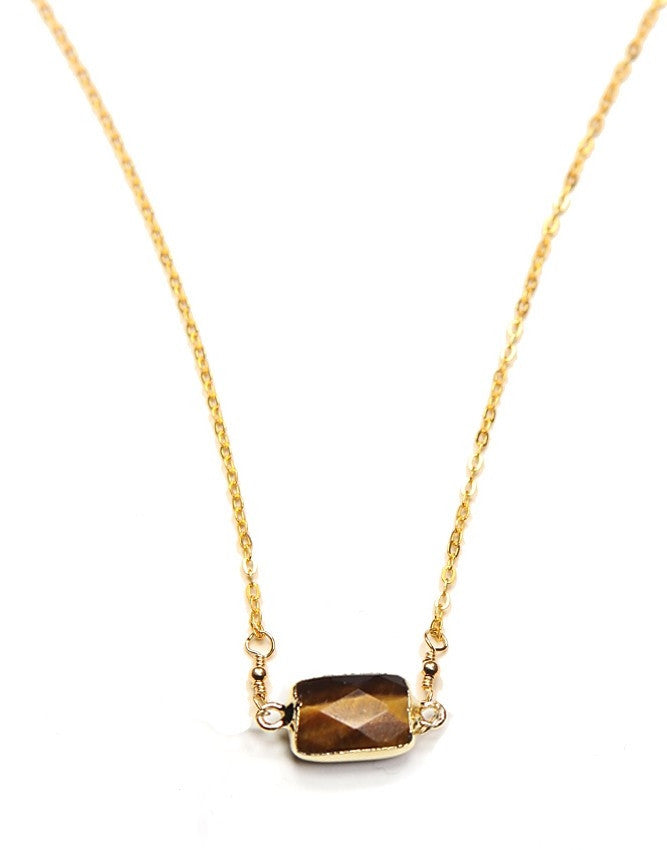 PGQ-TE Mini Faceted Quartz Pendant Charlene K Jewelry