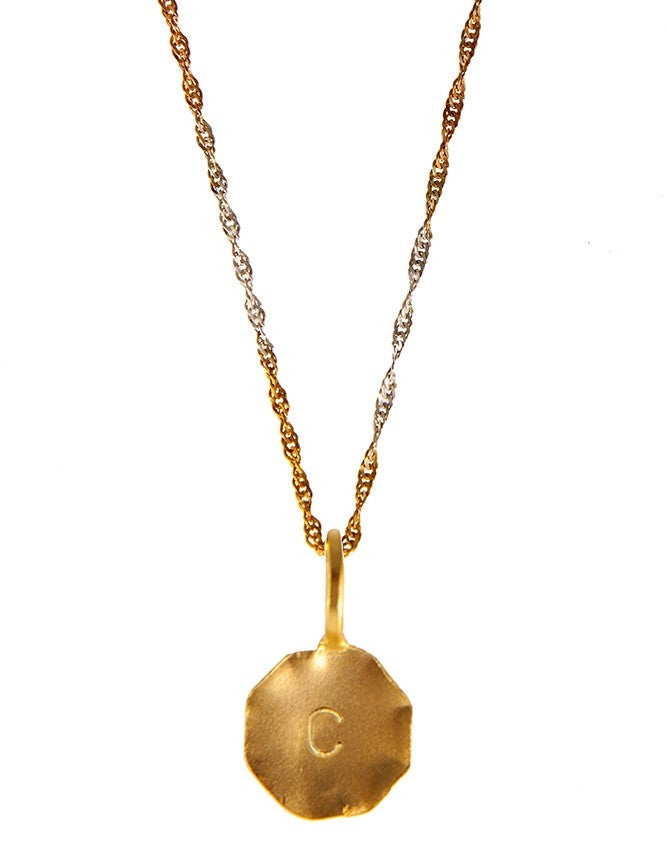 P20IN3-G Initials Collection Pendant Charlene K Jewelry