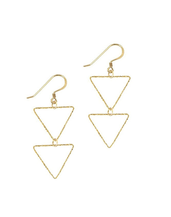 ETRD-MH Triangle Collection Earrings Charlene K Jewelry