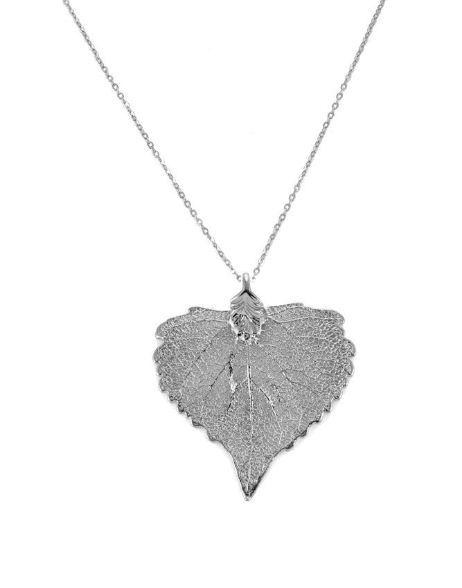 PL-CO Real Leaf - Gold & Silver Pendant Charlene K Jewelry