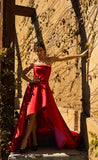 569 Strapless Red Nicole Bakti Gown