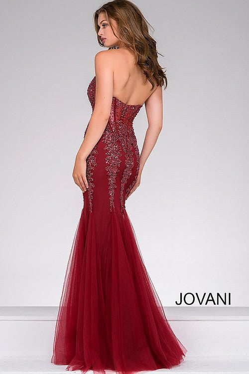 JOVANI 5908 STRAPLESS SWEETHEART MERMAID PROM DRESS