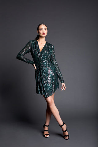 Maya Green Baccio Couture Gown