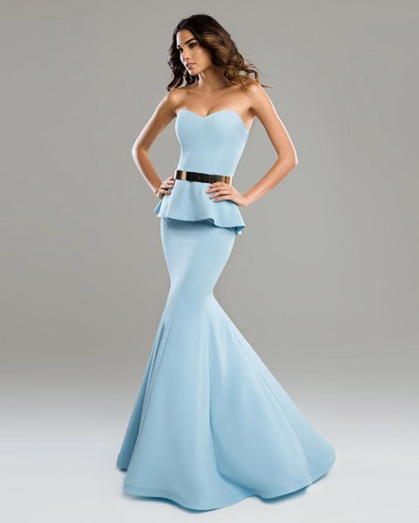 Fitted Strapless Mermaid Nicole Bakti Gown 6671