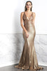 Luz Coffee Gold Baccio Couture Gown