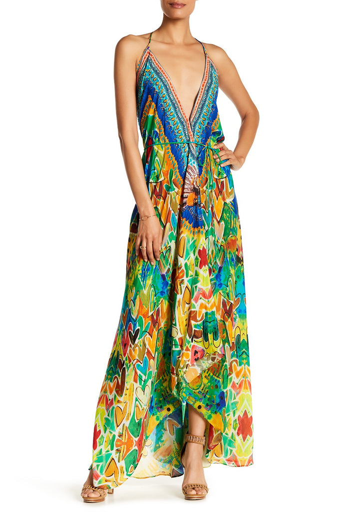 H2H Green Envy Shahida Parides 3 Way Dress