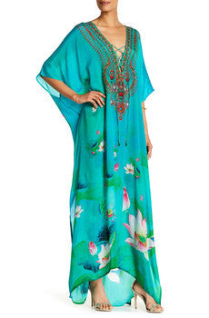 Lotus Green Envy Shahida Parides Kaftan