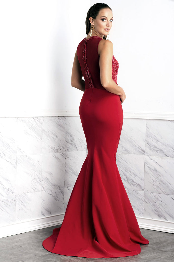 Margot Red Baccio Couture Gown