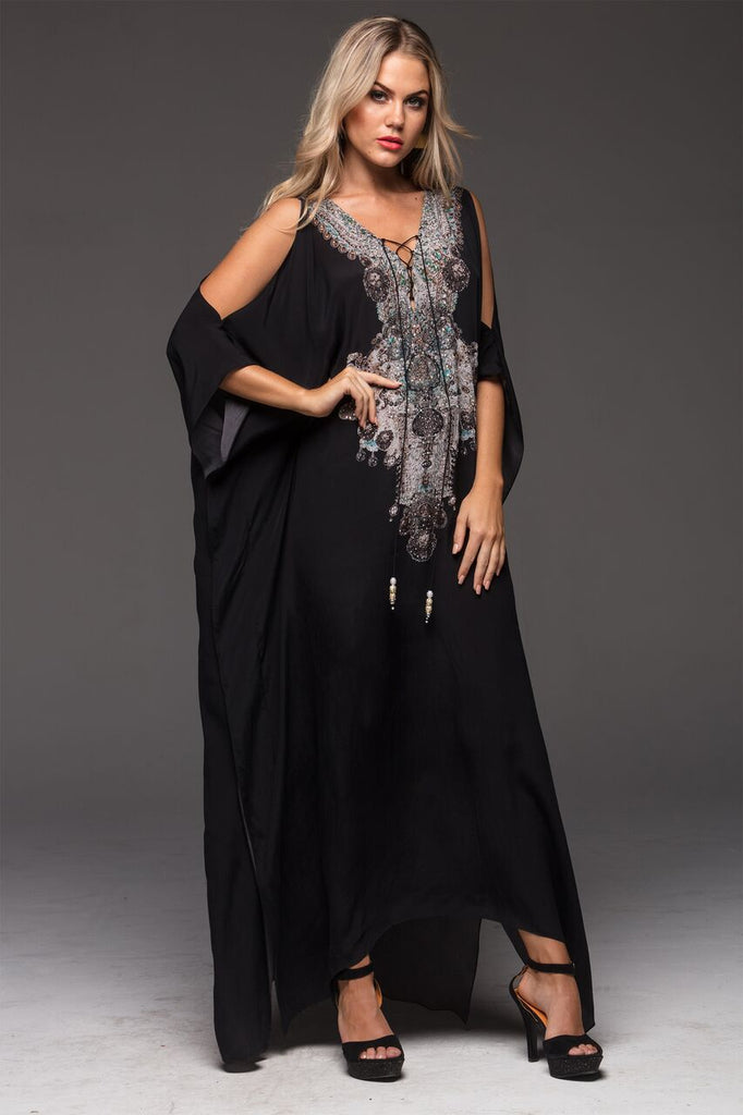 ALICE CZARINA LONG KAFTAN W SLIT